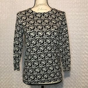J Crew 100% wool Charley Sweater in Ribbon Bows